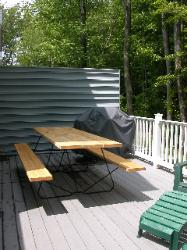 Bethany Beach Rental - Deck view of picnic table and grill